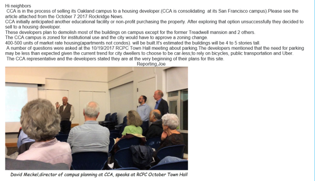 CCA administrator speaking at the 10-19-2017 RCPC Town Hall