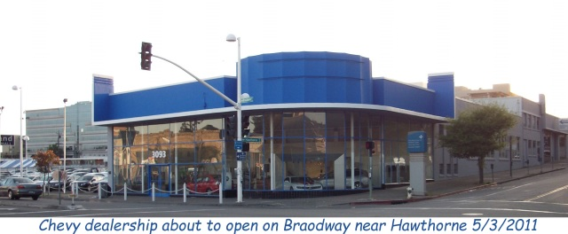 Chevy dealership at Broadway&Hawthorne Oakland Ca 5-3-2011_17w caption