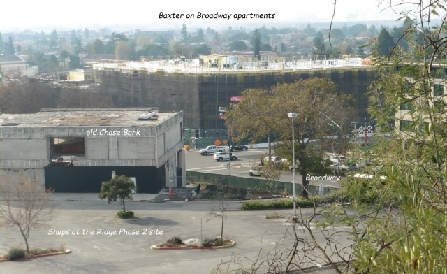Baxter on Broadway Apartments.Shops at the Ridge Phase 2.old chase Bank.